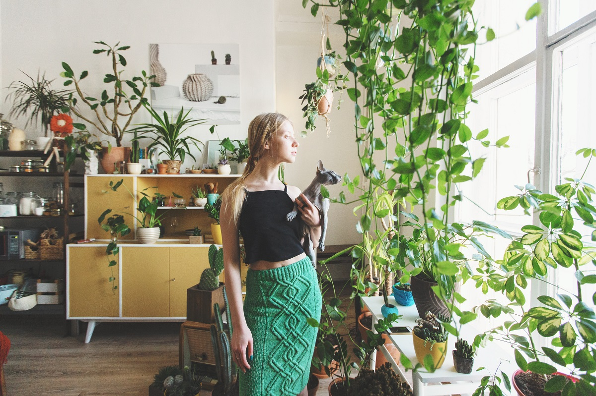 woman and her garden